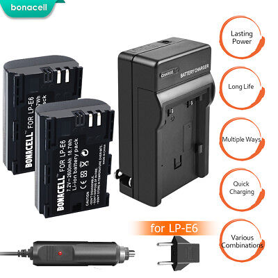 LP-E6 Battery or Charger For Canon EOS 5D Mark II 60Da 5D Mark III LPE6 2600mAhT
