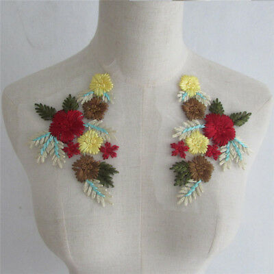 New Red Guipure Lace Collar - Embroidered Applique Trim YL715