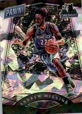2017 Panini National Convention Vip Prizm Cracked Ice #58 Andrew Wiggins Bk / 25