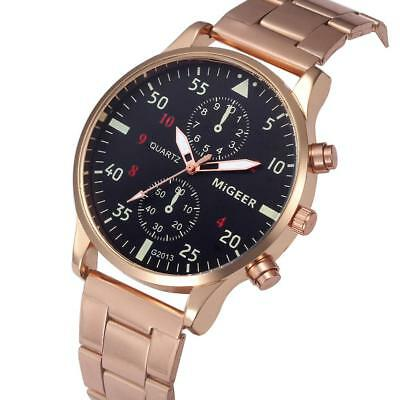 Cool Migeer Steel Band Quartz Men's Wristwatches Couple Lover Gifts Watches