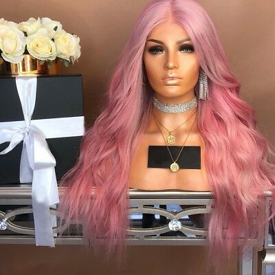 Fashion Womens Synthetic Hair Lace Front Wig Rose Long Wavy Curly Full Wigs lot