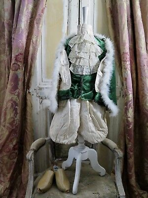 Antique french THEATRE 20s little Prince Childs dress COSTUME Napoleon JABOT