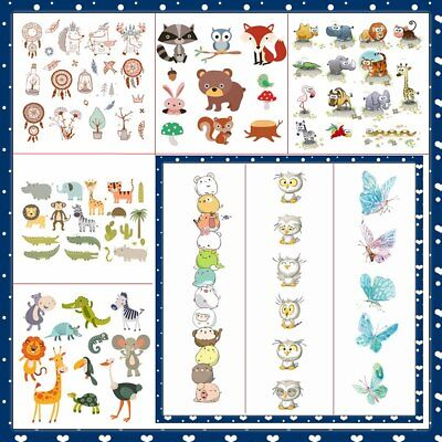 DIY Animal Heat Transfer Sticker Cartoon Patches Press Washable Iron On Applique