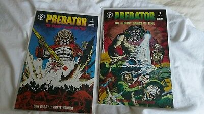 Predator The Bloody Sands Of Time 1 And 2 Dark Horse Comics