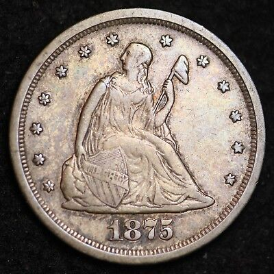 1875-S Seated Liberty Twenty Cent Piece CHOICE XF FREE SHIPPING E327 ACHT