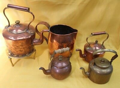Job lot of Copper and Brass Kettles 5KG ##KEG236JMH