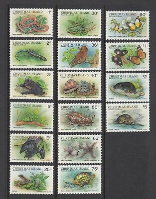 CHRISTMAS Island 1987/88 WILDLIFE Complete set 16 to $5 MNH - Land/Marine life