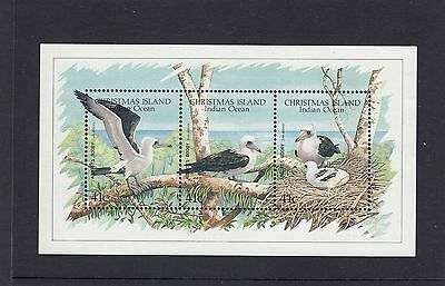 CHRISTMAS Island 1990 ABBOTT'S Booby Bird MINISHEET Wildlife - MNH