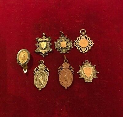Amateur Diving Assoc Badge & Fob Medals & Swimming Silver Fob Medals.circa 1905