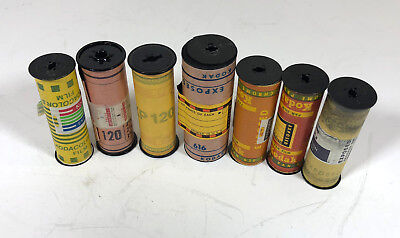 Seven Rolls of Exposed Film-Color/B&W