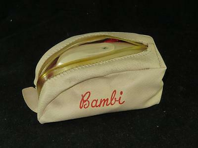 "Vintage ""BAMBI"" TRAVELLING IRON 1950s in Original Leatherette Case"