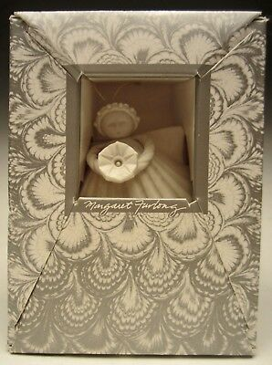 """Margaret Furlong Christmas Ornament Angel Morning Glory 3"""" tall made in 1996"""