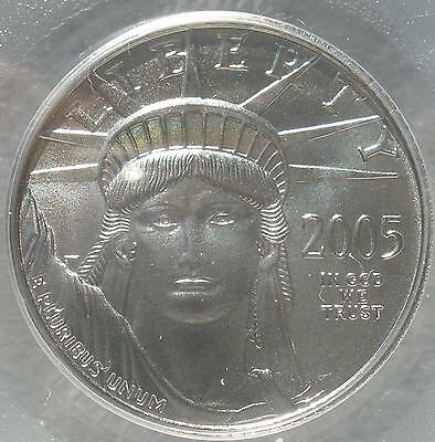 """2005 PCGS """"First Strike"""" MS-69 $25.00 1/4 OUNCE American Eagle Platinum Coin"""
