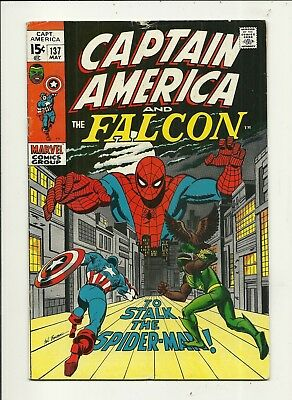 Captain America # 137 Spider-Man!! Fine Minus Condition!!! Affordable!!!