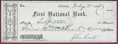 Primera Nacional Bank Of Andes, Nueva York, Banco de Cuadros, Julio 2 , 1877