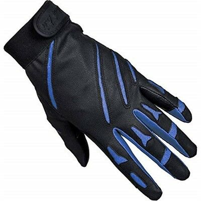 Mark Todd Sports Everyday Riding Glove Large Black Royal Blue