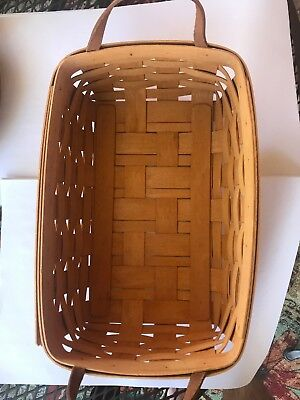 Longaberger 1995 Signed Hand Woven Rectangle Basket