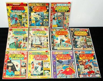 1974-76 Dc Superman Family Giant #164-176 Lot Run Of 11 Mid Grade Miss 2Bks L13