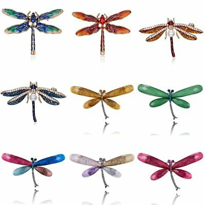 Animal Dragonfly Pearl Crystal Women Breastpin Brooch Pin Custome Jewelry Party
