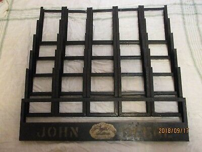 Vintage John Deer Brochure Display Rack Metal 21 X 21 Inch