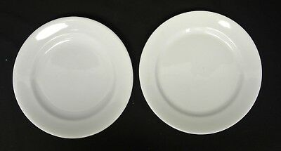 "2 Antique WEDGWOOD and MEAKIN White Ironstone 9-5/8"" Plates"