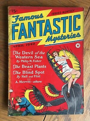 Famous Fantastic Mysteries - US vintage SF Pulp - April 1940 - Frank R Paul cvr