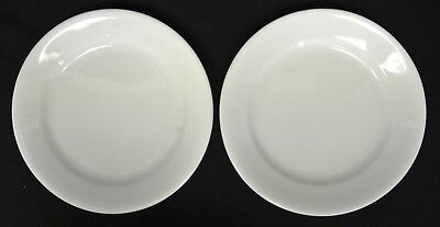 "2 Antique BRUGESS & GODDARD and ALFRED MEAKIN White Ironstone 9"" Plates"