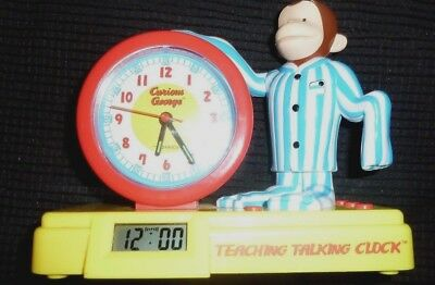 HMCO curious george teaching talking clock working 1999 Pacific innovations ltd