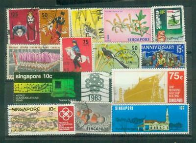 Lot Briefmarken aus Singapur