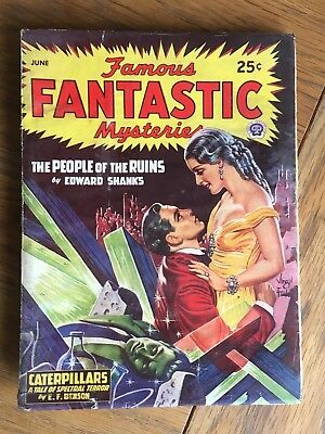 Famous Fantastic Mysteries - US vintage SF Pulp - June 1947 - E F Benson etc