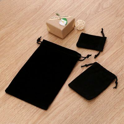 Women Lady Black Velvet Velour Cosmetic Jewellery Makeup Pouch Hand Bag Clutch