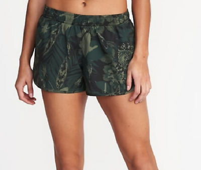 Size XXL OLD NAVY Semi-Fitted Run Shorts Camo Womens Clothes Running Go Dry