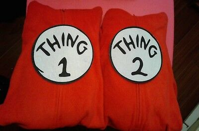 Thing 1 & 2 Matching Twin Costumes~Excellent Condition~Fast Shipping!