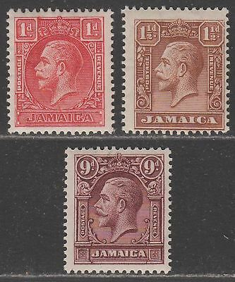 Jamaica 1929-32 King George V Set Mint SG108-110 cat £32