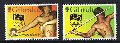 Gibraltar 1994 Olympic Committee Centenary - MNH Set - Cat £3.50 - (50)