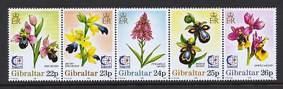 "Gibraltar 1995 ""Singapore '95"" - Flowers Orchids - MNH Strip - Cat £7 - (63)"