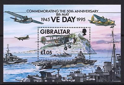 Gibraltar 1995 Anniversary of end of WWII - MNH Sheet - Cat £3.25 - (58)