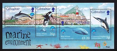Gibraltar 1998 International Year of the Ocean - MNH Sheet - Cat £5.50 - (74)