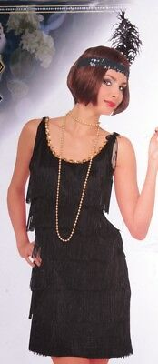 Womens Roaring 20's Halloween Costume FLAPPER Dress Black Plus Size 14 16 18 NEW