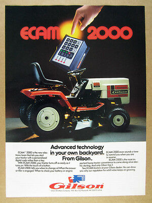 1985 Gilson YT16HE Tractor with ECAM 2000 photo vintage print Ad