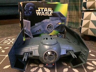 Vintage STAR WARS Darth Vader Tie Fighter 1997 Boxed