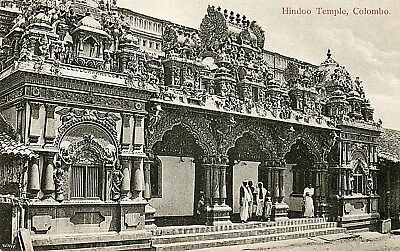 Ceylon,Colombo ,Hindoo Temple:Edwardian Printed Photographic Postcard.See Scans
