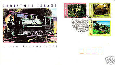 1994 Steam Locomotives of Christmas Island FDC