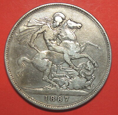 Great Britain Crown 1887  . Victoria. 0.925 Silver.
