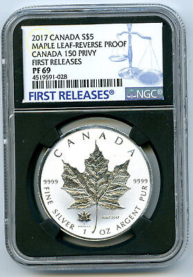 2017 $5 Canada 1Oz Silver Ngc Pf69 150 150Th Privy Reverse Proof Maple Leaf Fr