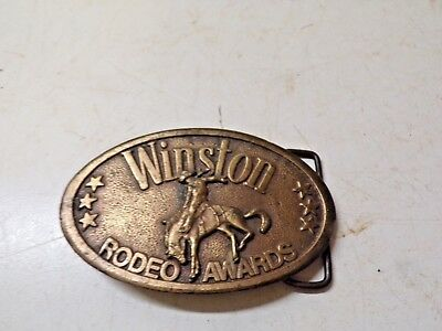 Old Brass Belt Buckle Winston Rodeo Awards