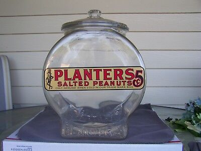 Planters Peanut Vintage Country Store Jar *Perfect* Fishbowl