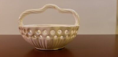 ANTIQUE SMALL CREAMWARE BASKET 19thc.  NO RESERVE EARLY WEDGWOOD?