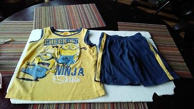 Boys 2Pc Despicable Me  Shorts Outfits  size 7