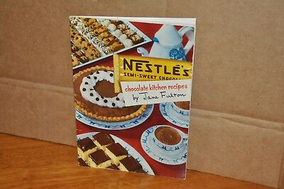 Nestle's Chocolate Kitchen Recipes Jane Fulton 1951 Cookbook Booklet Collectible